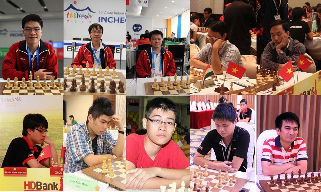 10 cao thủ làm rạng rỡ cờ vua Việt Nam  trong bảng xếp hạng của FIDE tháng 2/2016